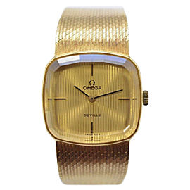 Omega De Ville 18K Yellow Gold with Gold Dial 19mm Womens Watch