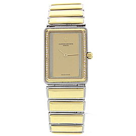 Vacheron Constantin Harmony H0682 Stainless Steel & 18K Yellow Gold Diamond Quartz 19mm Womens Watch