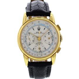 Rolex Anti-Magnetic Chronograph 4313 Vintage 18K Gold Men's Watch