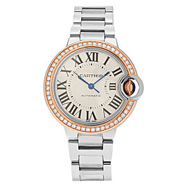Cartier Ballon Bleu WE902080 18K Pink Gold & Stainless Steel 33mm x 33mm Watch