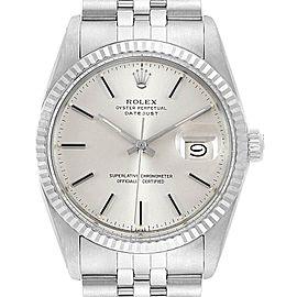 Rolex Datejust Vintage Steel White Gold Jubilee Bracelet Mens Watch 16014