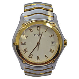 Ebel Classic Wave E1187F41 Stainless Steel & 18K Yellow Gold Quartz 38mm Mens Watch