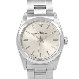 Rolex Midsize 31mm White Dial Automatic Steel Ladies Watch 67480