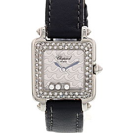 Chopard Be Happy 2 27/8896-403 Stainless Steel & Leather Diamond 27mm Watch