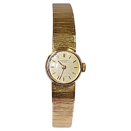 Patek Phillippe 18K Yellow Gold Beige Dial Quartz Womens Watch