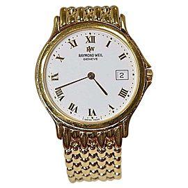 Raymond Weil 5568 Yellow Gold Tone Stainless Steel White Dial Quartz Men's Watch