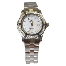 Tag Heuer Aquaracer Stainless Steel & White Mother of Pearl Diamond Dial Womens Watch