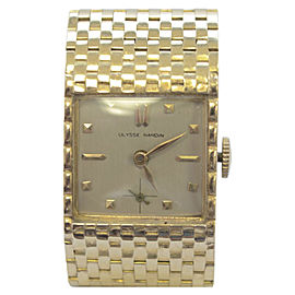 Vintage Ulysse Nardin Yellow Gold Beige Dial Manual Unisex Watch