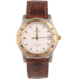 Omega Constellation Stainless Steel / Leather Mens Watch
