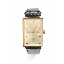 Sarcar Geneve Day Date 18K Yellow Gold 20mm Womens Vintage Watch