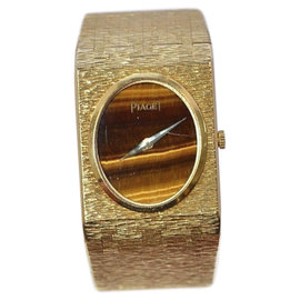 Piaget 18K Yellow Gold Tiger's Eye Dial Womens Watch