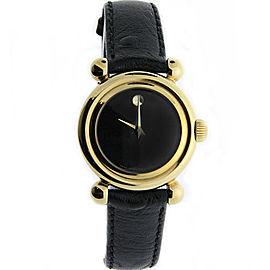 Movado 87.A1.825 Gold Plated Leather Band 27 mm Womens Watch