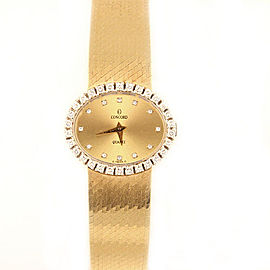 Concord 14K Yellow Gold with Champagne Dial 21mm Womens Watch