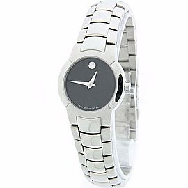 Movado Museum 84-A1-1842 Stainless Steel Black Dial Quartz 25mm Womens Watch