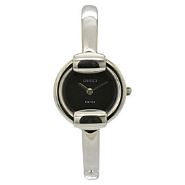 Gucci 1400L Stainless Steel Black Dial Quartz 25.5mm Womens Watch