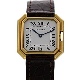 Cartier Paris 18K Yellow Gold Vintage 27mm Womens Watch 1970s