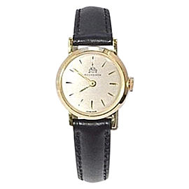 Bucherer 18K Yellow Gold & Leather Manual 20mm Womens Watch
