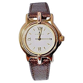 Bertolucci Pulchra 18K Yellow Gold / Leather 24mm Womens Watch