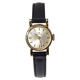 Bucherer 18K Yellow Gold / Leather 17mm Womens Watch