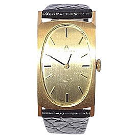 Bucherer 18K Yellow Gold / Leather Vintage 22mm Mens Watch