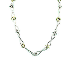 Tiffany & Co. Picasso Sterling 18K Yellow Gold Silver Infinity Chain Necklace