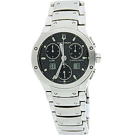Bulova Accutron Breckenridge 26B29 Chronograph Stainless Steel 37mm Mens Wrist Watch