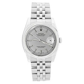 Rolex Datejust New Style 116200 Steel Jubilee Silver Stick Dial Automatic 36mm Mens Watch