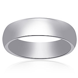 14K White Gold Comfort Fit Concave Band Size 12.00