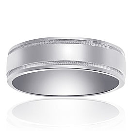 14K White Gold Classic Comfort Fit Band Size 12.00