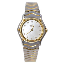 Ebel Classic Stainless Steel and 18K Yellow Gold Womens Watch