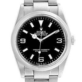 Rolex Explorer I Luminescent Arabic Numbers Steel Mens Watch 114270