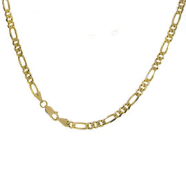 Figaro 14K Yellow Gold Diamond Cut Link Chain Necklace