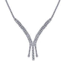 14K White Gold 6.25ct Diamond Necklace
