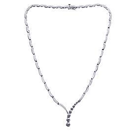 14K White Gold 0.50ct Diamond Drop Necklace