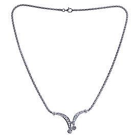 14K White Gold 1.55ct Diamond Bolero Tie Necklace