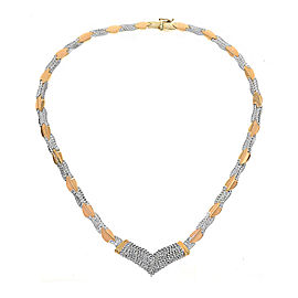 14K Two Tone Gold 1.70ct Diamond Necklace