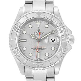 Rolex Yachtmaster 40mm Steel Platinum Mens Watch 16622 Box