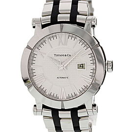 Tiffany & Co. Atlas T1392 Stainless Steel & Rubber Automatic 45mm Mens Watch
