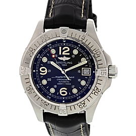 Breitling SuperOcean A17360 Stainless Steel & Rubber Black Dial Automatic 36mm Mens Watch