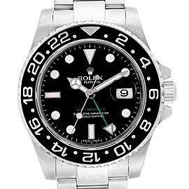 Rolex GMT Master II Green Hand Automatic Steel Mens Watch 116710