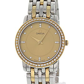 Omega DeVille 6503/833 18K Yellow Gold / Stainless Steel 28mm Womens Watch