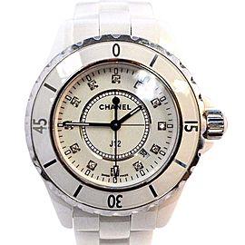 Chanel J12 L.D.95577 White Ceramic & Stainless Steel Quartz 33mm Womens Watch