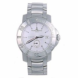 Baume & Mercier MOA08125 Stainless Steel & Silver Dial Automatic 41mm Mens Watch