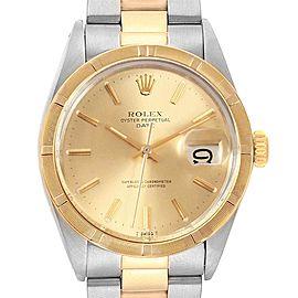 Rolex Date Steel Yellow Gold Oyster Bracelet Vintage Mens Watch 1500