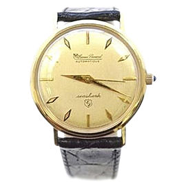 Lucien Piccard Seashark 14K Yellow Gold Automatic 32mm Mens Watch