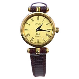 Gucci 2000 Gold Plated & Yellow Dial 21mm Womens Watch