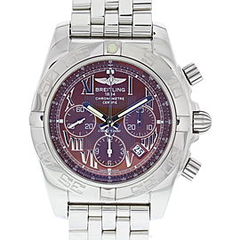 Breitling Chronomat AB0110 Stainless Steel Bronze Dial Automatic 44mm Mens Watch