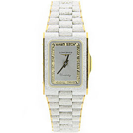 Longines Stainless Steel and Gold Two Tone Dial Quartz 23mm Unisex Watch