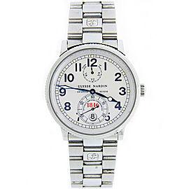 Ulysse Nardin Marine Chronometer 263-22 Stainless Steel 38mm Mens Watch