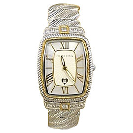 Judith Ripika Stainless Steel with Mother of Pearl Dial with CZ Accent 27mm Womens Watch
